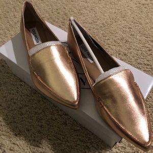 Brand new Steve Madden Rose Gold Loafers